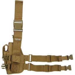 Lancer Tactical Airsoft Dropleg Nylon Holster Accessory - TAN
