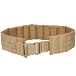 Lancer Tactical MOLLE Nylon Battle Belt - TAN