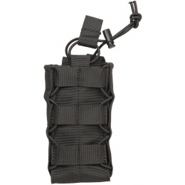 Lancer Tactical Radio/Canteen Retention Pouch (Nylon) - BLACK
