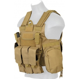 Lancer Tactical MOLLE Rapid Response Maritime Plate Carrier (Nylon) - TAN