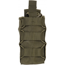Lancer Tactical Radio/Canteen Retention 600D MOLLE Pouch - OD GREEN