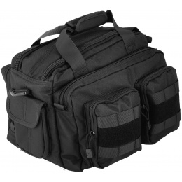 Lancer Tactical 600D Nylon Small Range MOLLE Bag - BLACK