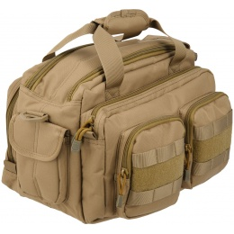 Lancer Tactical 600D Nylon Small Range MOLLE Bag - TAN