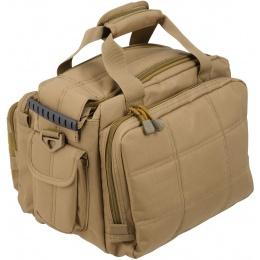 Lancer Tactical 1000D Nylon Small Range MOLLE Bag - TAN