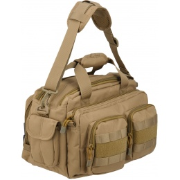 Lancer Tactical 1000D Nylon Small Range MOLLE Bag - TAN