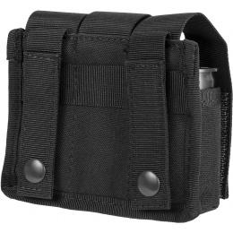 Lancer Tactical 600D Nylon MOLLE Triple Grenade Pouch -  BLACK