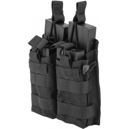 Lancer Tactical 600D Nylon Bungee Open Top M4 Magazine Pouch - BLACK