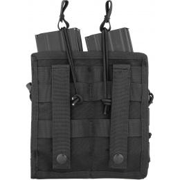Lancer Tactical 600D Nylon Bungee Open Top M4 Magazine Pouch - BLACK