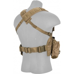 Lancer Tactical 600D Nylon M4 MOLLE Modular Chest Rig - TAN