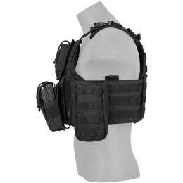 Lancer Tactical 600D Nylon Assault Tactical Vest (Black)