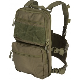 Lancer Tactical 1000D Nylon QD Chest Rig and Backpack Combo - OD GREEN