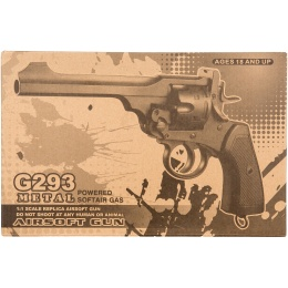 WellFire G293 Webley MKVI Top-Break CO2 Revolver Airsoft Gun