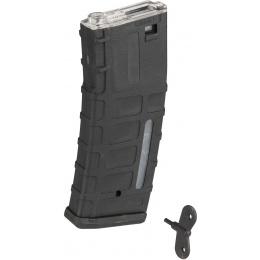 Sentinel Gears 350rd Waffled Polymer M4/M16 High Capacity AEG Magazine - BLACK