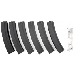 6X SRC Airsoft 50rd M5 / MP5 AEG Low Capacity Magazines w/ Speedloader