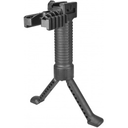 Sentinel Gears Tactical Bipod Grip With Dual Rail Grip Pod System - BLACK