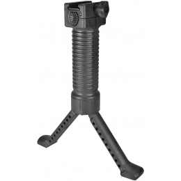 Sentinel Gears Tactical Bipod Grip With Single Rail Grip Pod System - BLACK
