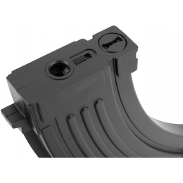 Sentinel Gears 140rd Mid Capacity Polymer Airsoft Magazine for AK AEGs - BLACK