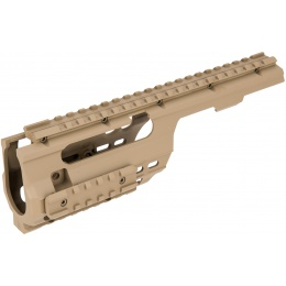 Sentinel Gears Full Metal Rail System for M5 Series AEGs - TAN