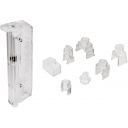 Sentinel Gears Airsoft BB Speedloader for Mid and Low Cap Magazines - CLEAR