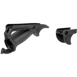 Sentinel Gears Ergonomic Pointing Foregrip w/ Tactical Support Grip - BLACK