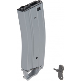 Sentinel Gears 330rd High Capacity Airsoft Magazine for M4 AEGs w/ Pull Tab - GRAY