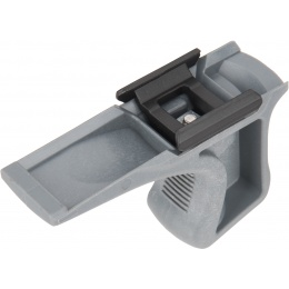 Sentinel Gears Low Profile Angled Grip w/ 20mm Rail Mount - GRAY