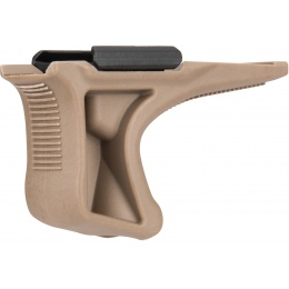 Sentinel Gears Low Profile Angled Grip w/ 20mm Rail Mount - DARK EARTH