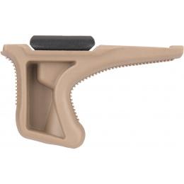Sentinel Gears Low Profile Angled Grip w/ 20mm Rail Mount - DARK EARTH