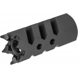 Sentinel Gears 14mm CCW Airsoft Great White Muzzle Brake - BLACK