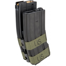 Sentinel Gears 800rd Electric Auto-Winding Dual Magazine for M4 AEGs - BLACK