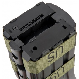 Sentinel Gears 1200rd Electric Auto-Winding Dual Magazine for M4 AEGs - BLACK