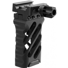 Atlas Custom Works 3.25-Inch Cross Hatch Design QD Foregrip - BLACK
