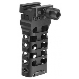 Atlas Custom Works QD 4-Inch Skeletonized Vertical Grip - BLACK