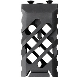 5KU KeyMod Short Skeletonized Vertical Foregrip - BLACK