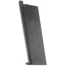 Airsoft WE M1911 Gas Blowback Single Stack 15rd Magazine - BLACK