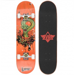 L-Sport Dragon Rage Orange Complete Skateboard (8.0