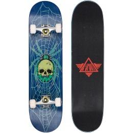 L-Sport Skull Spider Blue Complete Skateboard (8.0