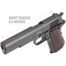 Gletcher Full Metal CLT 1911 CO2 Blowback Air Pistol - CHARCOAL GRAY