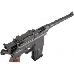 Gletcher M712 WWII Classic Full Auto Metal Airgun Pistol - BLACK/WOOD
