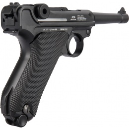 Gletcher Parabellum Luger Full Metal WWI CO2 Blowback Airgun Pistol - BLACK