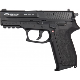 Gletcher SS 2202 CO2 Non-Blowback Polymer Airgun Pistol - BLACK