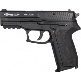 Gletcher SS 2202 CO2 Non-Blowback Polymer Airgun Pistol - BLACK