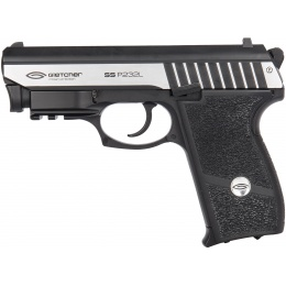 Gletcher SS P232L CO2 Blowback Integrated Laser Airgun Pistol - BLACK/SILVER