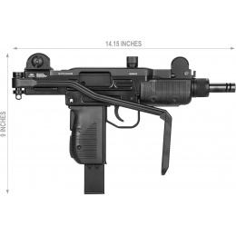Gletcher UZM Full Metal CO2 Blowback Submachine Air Gun