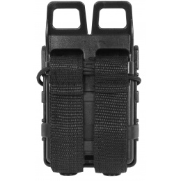 AMA High Speed Quick Draw M4 Airsoft Polymer Mag Pouch -  Black