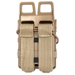 AMA High Speed Quick Draw M4 Airsoft Polymer Mag Pouch -  Coyote
