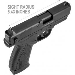 ASG BERSA BP9CC CO2 Blowback Airgun pistol - BLACK