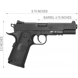 ASG STI® Licensed DUTY ONE CO2 Blowback Airgun pistol - BLACK