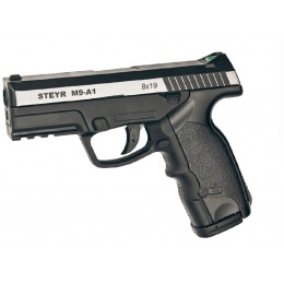 ASG Steyr M9-A1 Dual-tone CO2 Non-Blowback Airgun pistol - BLACK/SILVER