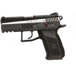 ASG CZ 75 Dual-Tone P-07 CO2 Blowback Air Pistol - BLACK/SILVER